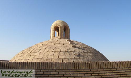 سقف گنبدی کاروانسرای مرنجاب