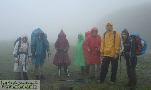 باران تابستانی در گردنه مشرف به ماسوله