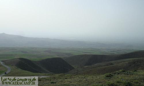 مناظر مسیر منتهی به دریاچه نئور از روستای بودالالو