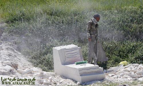 سنگ مزار تراشی در سوسن