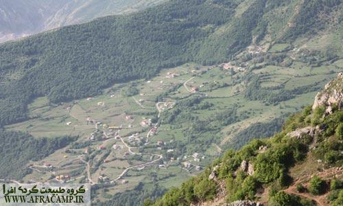 نمای دور روستاهای اطراف