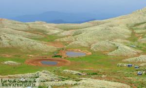 بر فراز قله درفک (استان گیلان)