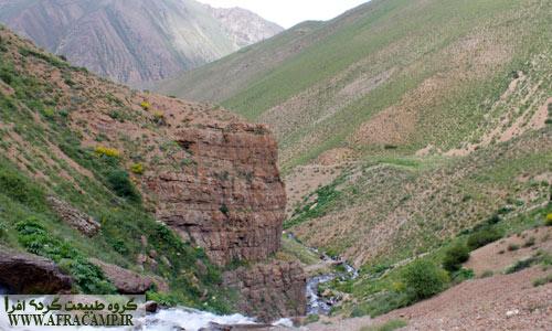 منظره بالای آبشار