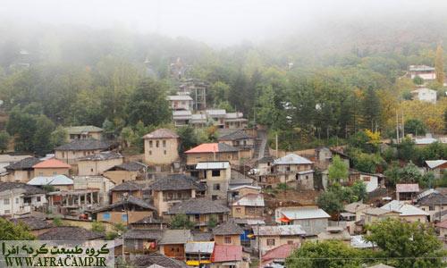 روستای زیبای کندلوس... در باران و مه پاییزی