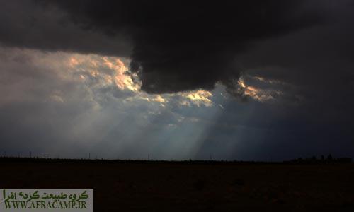 آسمان پاییزی کویر