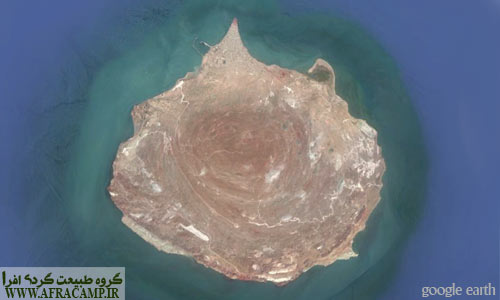 جزیره هرمز، عکس هوایی گوگل