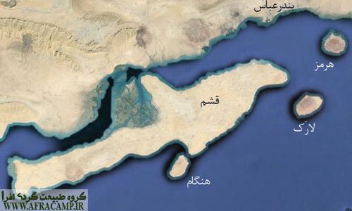 موقعیت جزایر خلیج فارس در تنگه هرمز