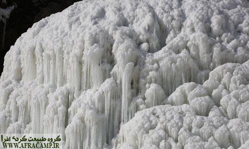 بازدید از آبشار سنگان در زمستان رونق خاص خود را دارد