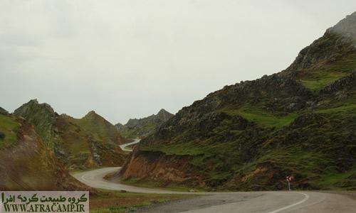 مناظر جاده ای مسیر سردشت به لالی