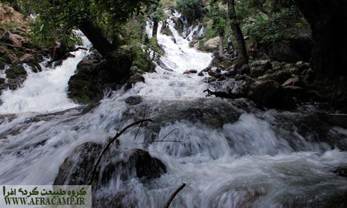 چشمه آبشار زرد لیمه قبل از ریزشگاه
