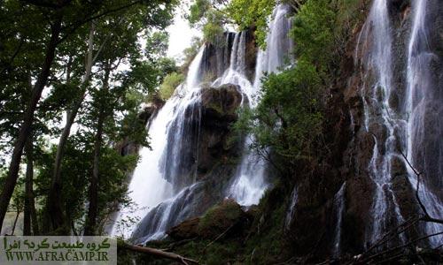 بخش از آبشار پهناور زرد لیمه
