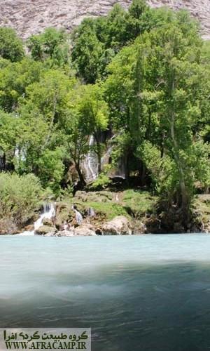 نمای آبشار از آنسوی بازفت
