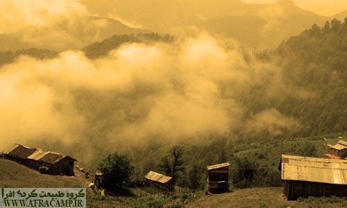 مناظر مه گرفته جز جاذبه های این منطقه است.