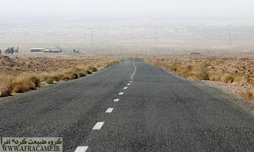 جاده رفسنجان زرند در مسیر اودرج