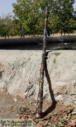 عصای خاص درویش خان که به نوعی یک اثر هنری است