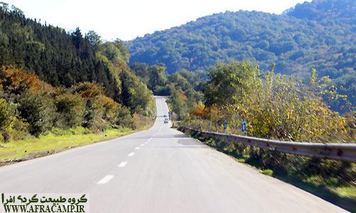 جاده ساری کیاسر یکی از جاده های زیبای ایران