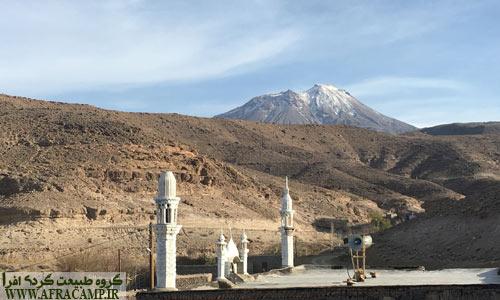 نمایی از مسجد زیبای روستای جش و تفتان