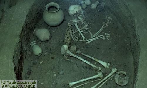 نمونه بازسازی شده قبرها در موزه شهر سوخته
