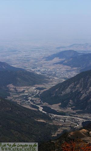 نمای رامیان و آزادشهر از بالای ماران