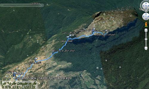 مسیر صعود قلعه ماران از روستای پاقلعه که از لینک پایین قابل برداشت است.