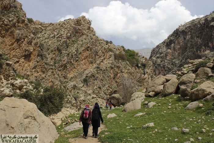 ادامه مسیر دره بعد از چرزو