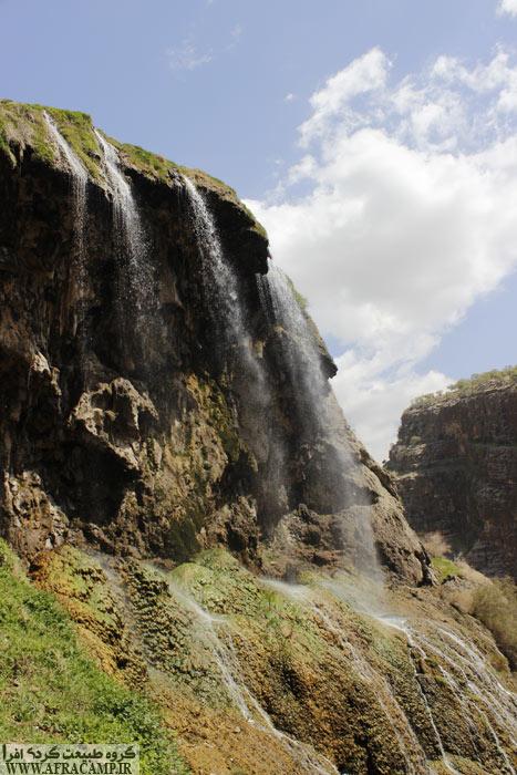 آبشار بلند و زیبای کمردوغ