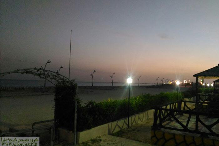 و بالاخره شب در پارک ساحلی بندر چیرویه