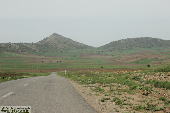 در مسر خرم آباد و دشت های پهناور زیر کشت