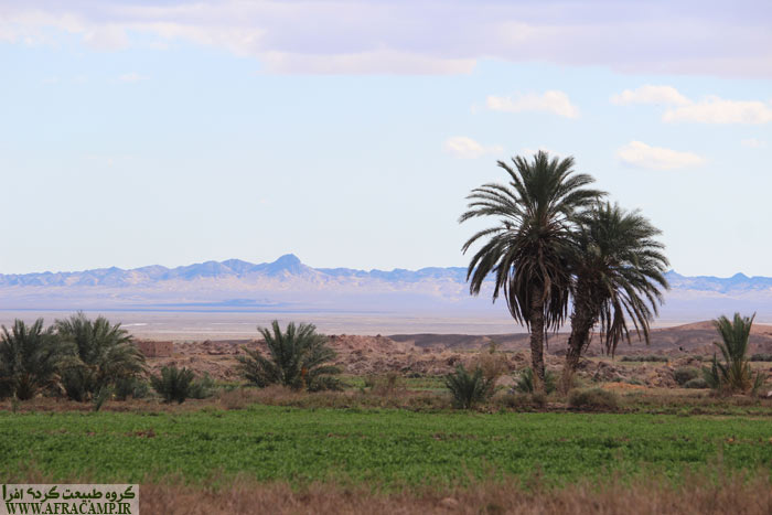 View of Torud, a village in the north of the Great Desert