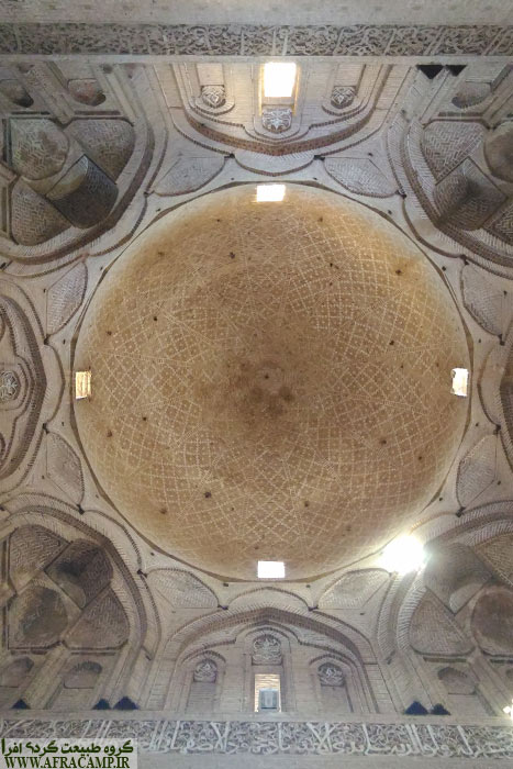 Beautiful dome of mosque Ardestān