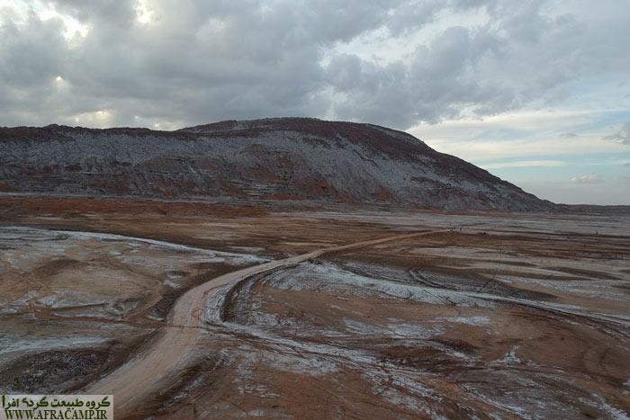 Roads surrounding the salt dome - Aerial photograph of the M Zafari